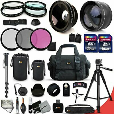 Canon EOS Rebel T6S ACCESSORIES Kit Includes: 58mm 2X Telephoto Lens + 58mm