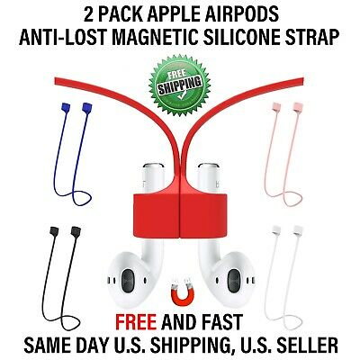 Apple AirPods Anti-Lost Magnetic Loose Fitting Silicone Strap For Apple Airpods