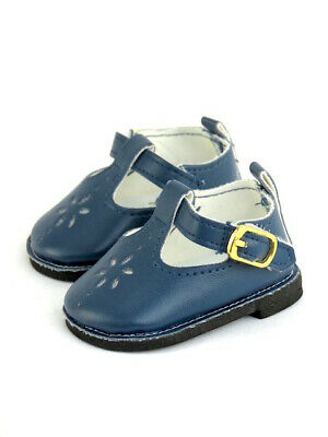 """Navy Flower Mary Jane Dress Shoes Fits 18"""" American Girl Doll Clothes Shoes"""