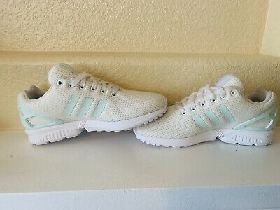 b2c8fcc09f601 Adidas Originas ZX Flux Women s Running Shoes BY9219 White Cream Size 8