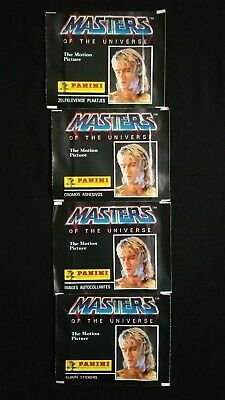 1987 Panini He-Man Master Of The Universe The Movie 4 Pack Lot