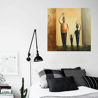 Hand-Painted Art Canvas Oil Painting - Happy Family | Abstract Wall Decor Framed