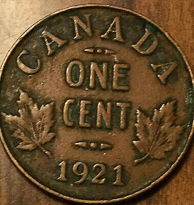 1921 Canada Small Cent Penny 1 Cent George V Coin