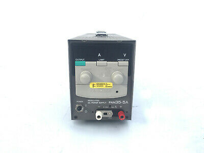 Kikusui PAN35-5A 0-35V 0-5A Regulated DC Power Supply Fresh Keysight Calibration