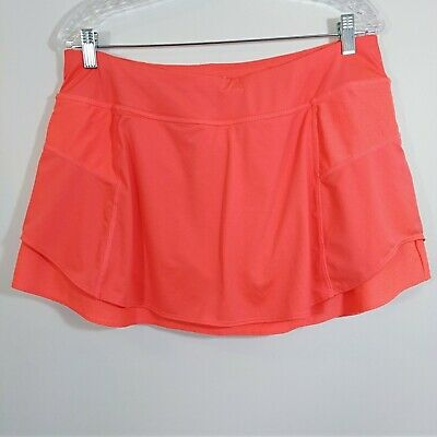 2c98de91c1 Athleta Tennis Skirt Size Large Orange Skort With Pockets Golf Athletic No  Slip