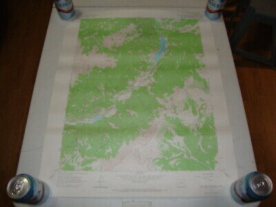 1964 U.S. Dept. of INTERIOR GEOLOGICAL SURVEY TOPO Map LAKE SAN CRISTOBAL, COLO.