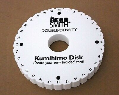 32 Slot Kumihimo Disc Round 20mm Thick 6in Diameter