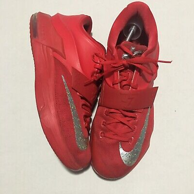 new arrival 8c798 fdf15 Nike Kd Durant Vii 7 Used Size 13 Global Game Action Red Silver Grey 653996-