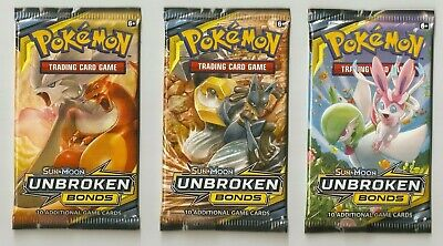 3-Pokemon Unbroken Bonds GX/HOLO/FULL ART/SECRET RARE HOT PACKS Charizard GX??