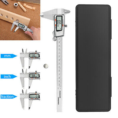 Electronic Digital LCD Vernier Caliper Stainless Steel 200mm 8'' Micrometer Tool