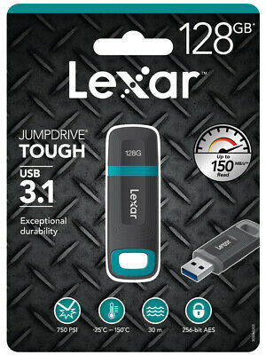Lexar U Disk JumpDrive Tough 32GB 64GB 128GB USB3.1 Flash Drive 130MB/s W 25MB/s