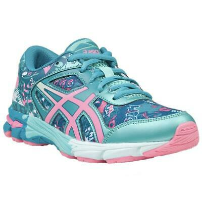 8653839f1d0c9 ASICS GEL NOOSA TRI 11 GS Childrens Trainers Turquoise Kids Running Shoes  UK 3.5