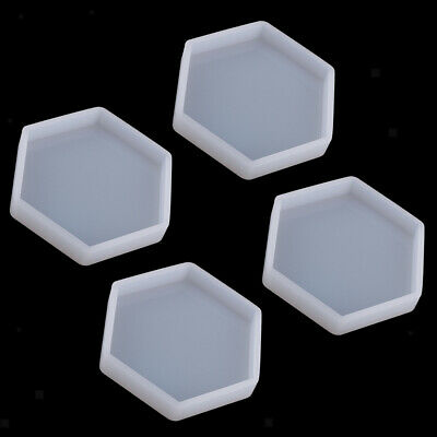 4pcs Silicone 3D Polygonal Moulds Mold Pendant Jewelry Making DIY Craft Tool