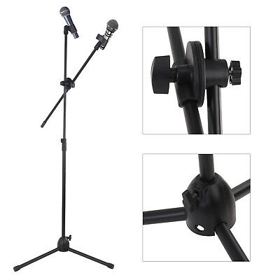 Professional Boom Microphone Mic Stand Holder Adjustable With 2 Free Clips