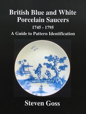 British Blue & White Porcelain Saucers 1745-1795. Over 480 Patterns covered. H/B