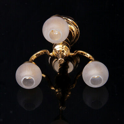 1/12 Doll House Chandelier Shade Miniature Electric Ceiling Light Lamp