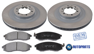 For Mitsubishi L200 2.5 4x4 2006-2015 Front Brake Discs and Pads Set Unipart