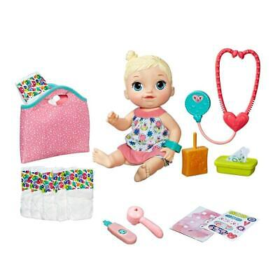 Baby Alive Make Me Better Baby Blonde Girl Doll Drink & Wet & Dolls Accessories