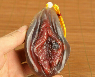 162g big chinese old jade agate hand carved door of life statue hand piece gift