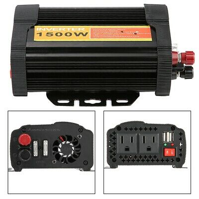 1500W Pure Sine Wave Inverter 12V to 110V Car Power Converter & Car Charge