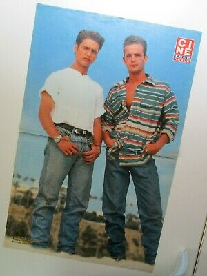 "LUKE PERRY &  JASON PRIESTLEY  ""Beverly Hills 90210""  / Poster ""Cine Tele Revue"""