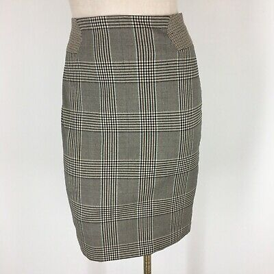 26a6263b7c WOMENS BLUE GREEN plaid BODEN flannel knit pencil skirt modern ...