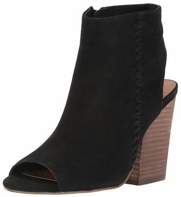 508f784221b $109 SIZE 8.5 Steve Madden Mingle Black Leather Heels Bootie Womens Shoes