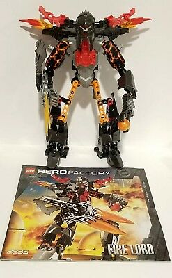 100/% Complete /& Retired Lego Hero Factory Nitroblast 2294 with Instructions