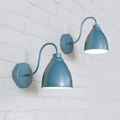 Blue Vintage Wall Light | Industrial Style