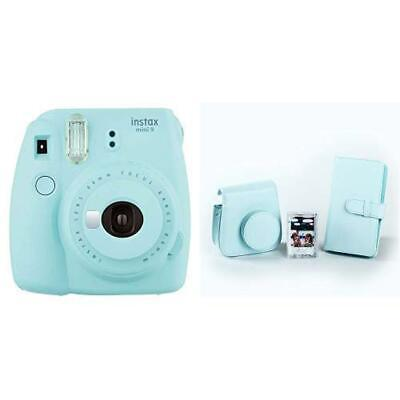 Fujifilm Instax Mini 9 Ice Fotocamera per Stampe, Formato 62 x 46 mm + Kit Acces