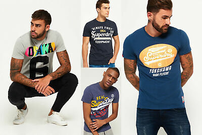 New Mens Superdry Tshirts Selection - Various Styles & Colours 090519