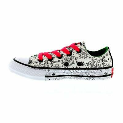 new concept 6d98e 5edb7 Kids Converse Girls All Star Ox Coloring, Black White, Size 5.0 M US