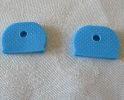 A Pair of Key Caps Toppers Coloured plastic Covers Top Cap Cover Tag - Sky Blue