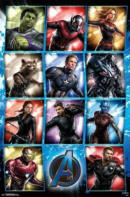 AVENGERS ENDGAME - CHARACTER GRID POSTER - 22x34 - MARVEL MOVIE 17254