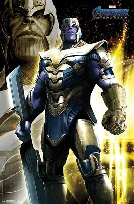 AVENGERS ENDGAME - THANOS POSTER - 22x34 - MARVEL MOVIE 17258