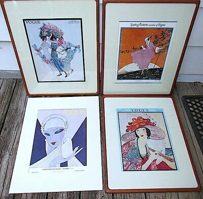 Fashion Vogue Cover Prints Art Deco 1913, 1916, 1919, 1927 Vintage Wall Art SET