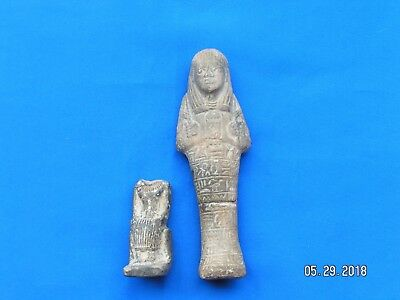 Ancient Egyptian Fiance Statue Figure,C.1292-1075 BC .....two for one.....