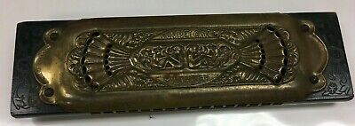 Vintage Circa 1930s M Hohner Trumpet Call Harmonica  Germany NICE Works