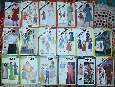 "1970's 80's Simplicity Sewing Patterns Womens 14 size with a 36"" Bust You Choose"