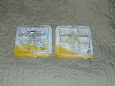 TWO MEDELA CONTACT NIPPLE SHIELDS - M 24mm - FREE EXPEDITED SHIPPING
