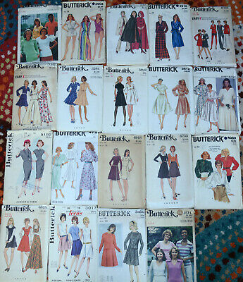 "1970's 80's Butterick Sewing Patterns Womens 16 size with a 38"" Bust U-Choose"
