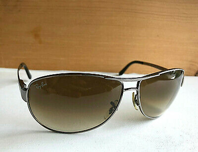 6c5a486bc6 Nice Ray-Ban Warrior Sunglasses Gunmetal Frames   Brown Gradient RB3342 004  51
