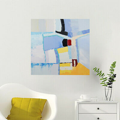 Hand Painted Abstract Oil Painting Canvas Modern Wall Art Home Decor Framed