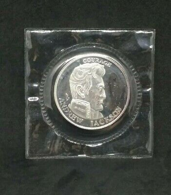 1991 LIBERTY LOBBY Andrew Jackson Courage 1//2 ozt .999 Fine Silver