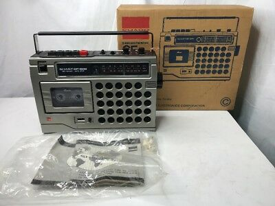 vintage Sharp gf 1800 boom box cassette does not work 80's BOX & OWNERS MANUAL!