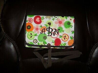 Thirty-One Fold n go Organizer Apple Blossoms Retired Print W/Notepad