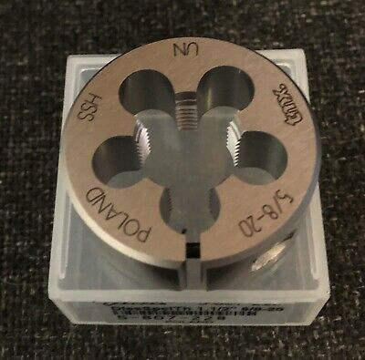"5/8"" - 20 UN HSS 1-1/2"" BUTTON DIE 60 Deg Round Threading Motorcycle Repair UNS"