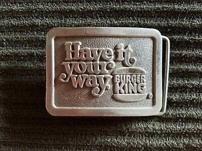 Vintage 1970's Belt Buckle - Burger King Have It Your Way - Retro Ad Whopper BK