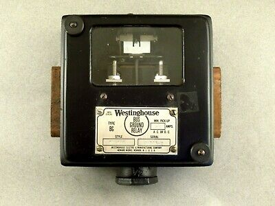 Vintage Westinghouse, Style 703793, Type BG, Bus Ground Relay - Never Installed