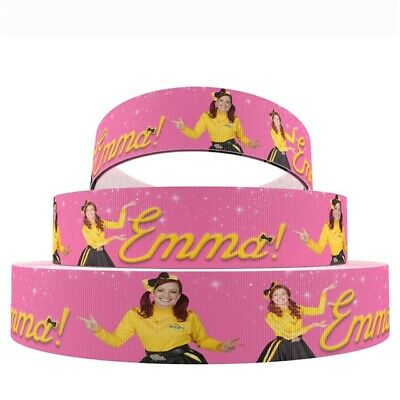 Emma Ribbon The Wiggles 1m long 22mm wide (pink)